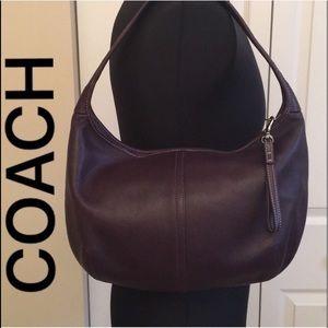 🇺🇸 COACH PURPLE LEATHER SHOULDER BAG 💯AUTH